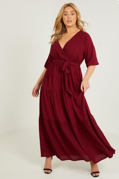 Curve Berry Smock Maxi Dress